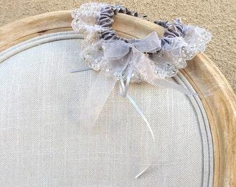 Garter, Sequin Garter, Ruffled Garter, Bridal Garter, Vintage Garter, Bridal Accessories, Toss Garter, Something Borrowed, Silver Garter