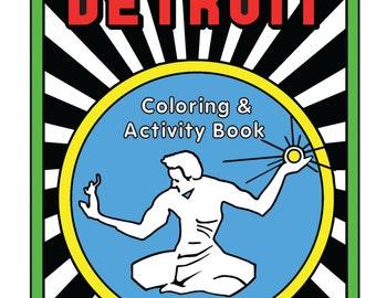 Detroit Coloring & Activity Book