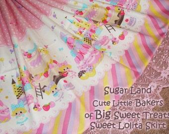 Sugar Land Cute Little Bakers of Big Sweet Treats Sweet Lolita Skirt - ANY SIZE