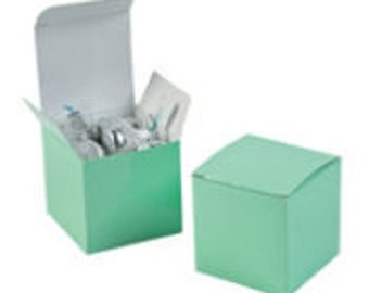 Mint Green Favor boxes-12 EA.