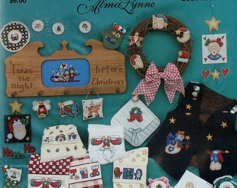 Alma Lynne A LITTLE BIT Of Christmas Jeanette Crews Designs (Multiple Designs)  - Counted Cross Stitch Pattern Chart Booklet