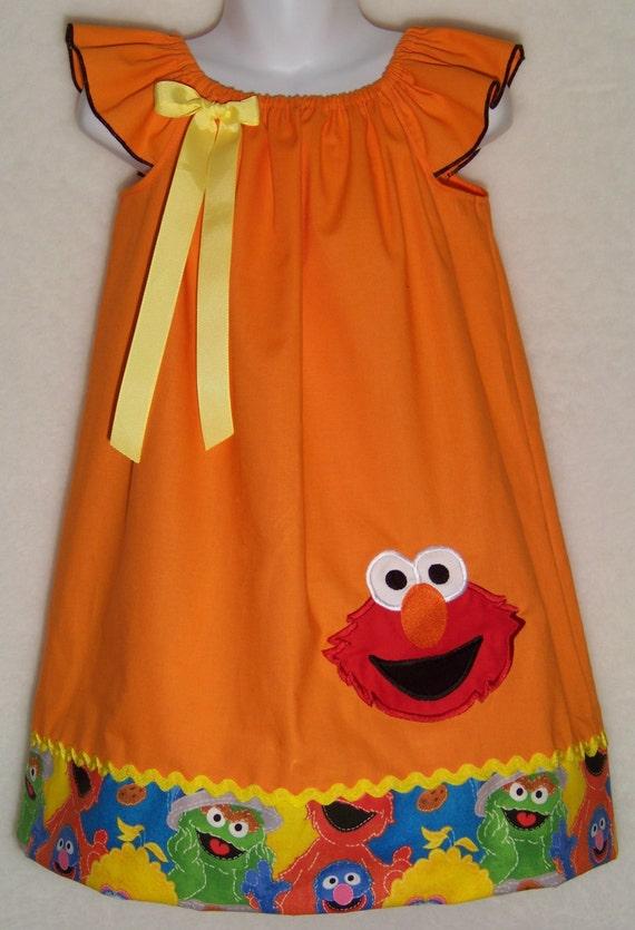 ELMO Dress Orange Character 123 Sesame Street Newborn