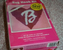 Sale Barbie Rug Hooking Kit Pink Heart Letter B For Girls