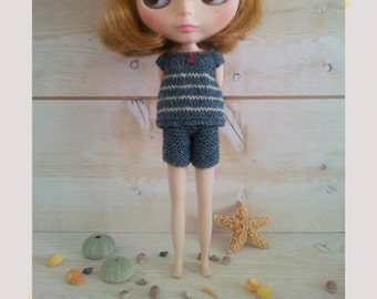 ENGLISH PDF Pattern for Blythe knitted  beachwear
