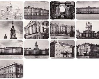 Leningrad. Set of 13 Vintage Prints, Postcards - 1950s