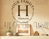 Family Wall Decal Last Name Custom Personalized Vinyl Lettering