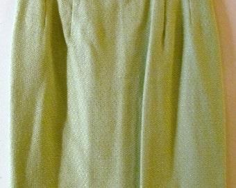 Textured Pencil Skirt S M 29 Waist