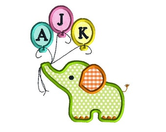 Baby Elephant Machine Embroidery Applique Design-INSTANT DOWNLOAD