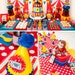 CIRCUS Birthday Party Printable Set - Cupcake Toppers, Bottle Labels, Favor Tags and more