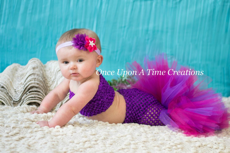 purple princess fishtail tutu set baby guppies girl size