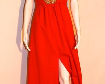 Vintage 70s Joseph Magnin Maxi Dress, 70s Maxi Dress, Vintage Maxi