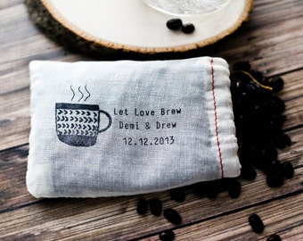 Wedding Favor Stamp, The Perfect Blend, Let Love Brew, Wedding Stamp, Coffee Favor Stamp, Tea Favor Stamp, Custom Favor Stamp, Wedding Favor