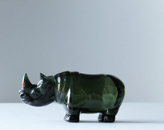dark green rhinoceros Avon after shave bottle