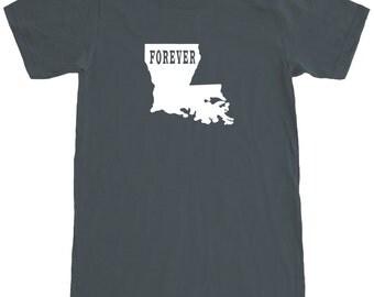 Louisiana Forever T-Shirt.Men's Premium Short Sleeve Tee. SEEMBO