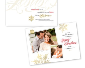 Christian Christmas Card Photoshop Template - 1200