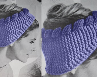 Vintage headband knitted earcover WINTER headband crochet ...