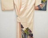 Geisha - Japanese Silk Tsukesage Kimono - Lovely Grape / Cherry Blossom - D32a