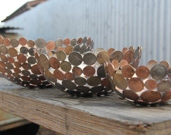 CUSTOM MADE coin bowl, metal sculpture, metal bowl, ornament