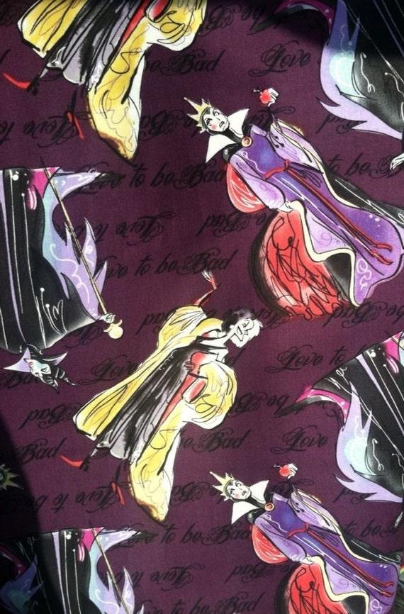 Love To Be Bad Disney Villain Villian Fabric