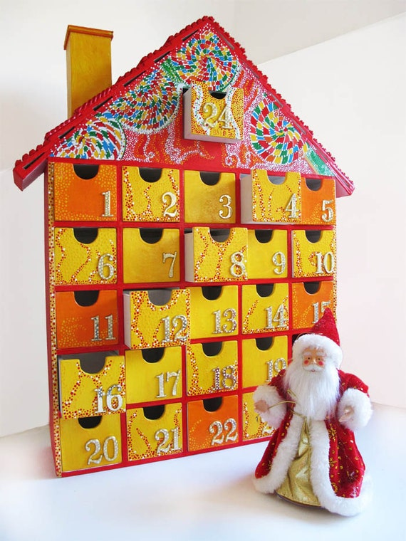 Wooden Advent Calendar - Painted