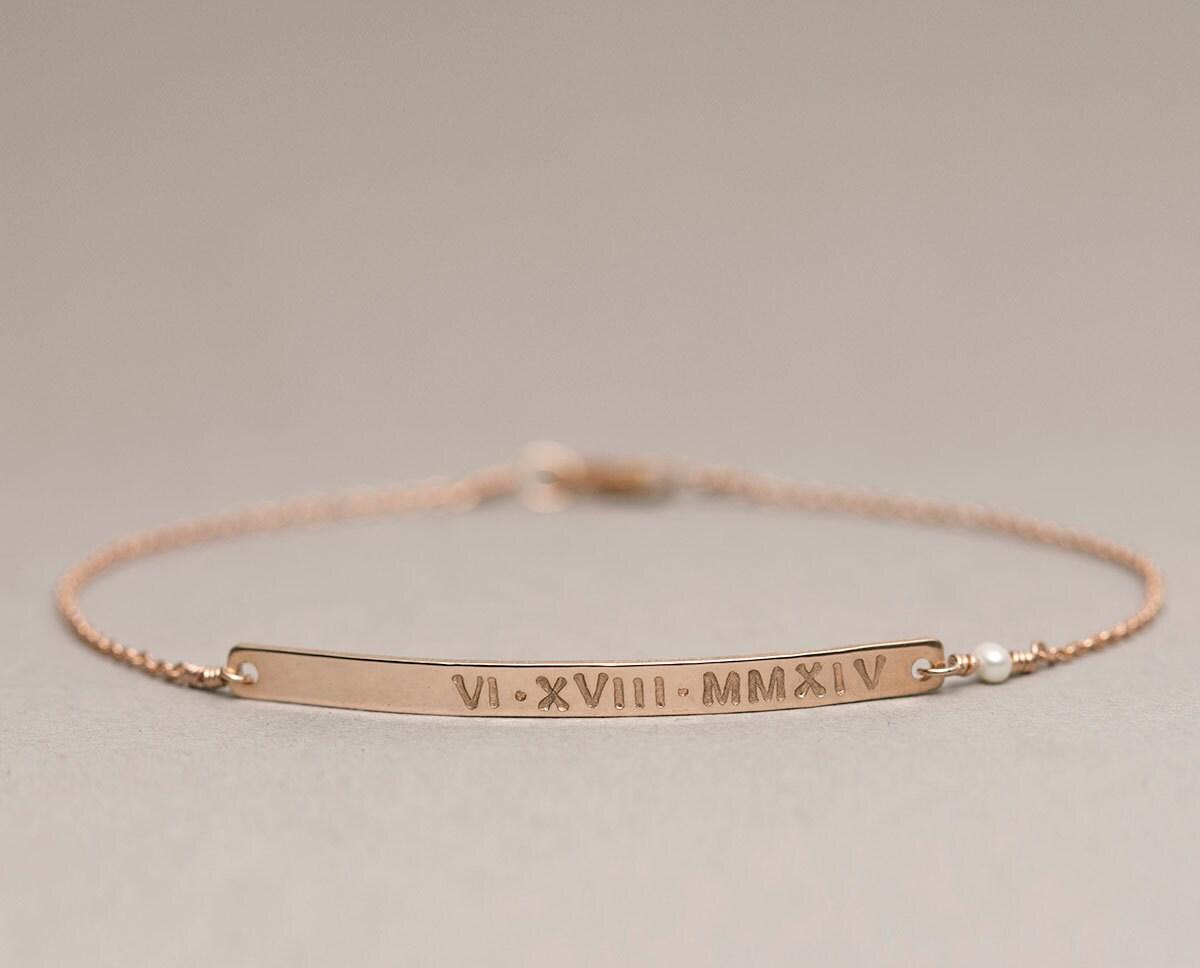 personalized bracelet bar bracelet customized