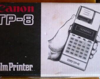 Vintage Cannon TP-8 Palm Printer Calculator 1980's