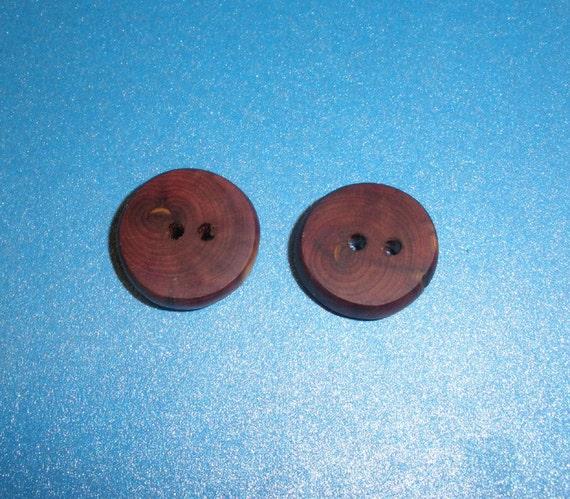 Wood Buttons 2 Red Cedar Tree Branch Wooden Buttons