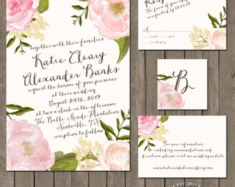 Printable Wedding Invitation Suite - the Collete Collection