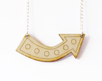 Wooden Arrow Necklace - circus arrow necklace