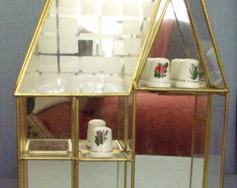 Glass and Brass Display Case for Miniatures