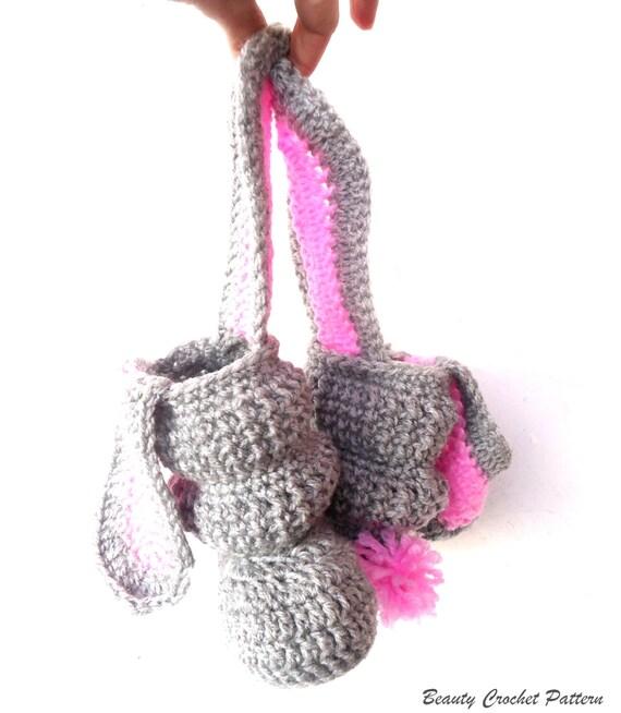 Crochet Bunny Baby Booties Pattern : Crochet Baby Boots Pattern Crochet Slouchy Boots Pattern