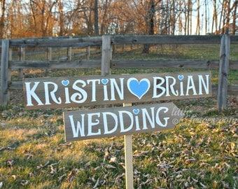 Wedding Signage, Wood Wedding Sign, Country Wedding Sign, Wedding Beach Sign, Wedding Beach Decor, Wedding Arrow Sign, Custom Wedding Sign