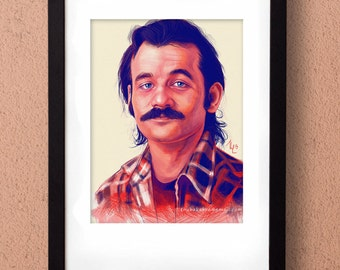 Young Bill Murray Mustache Young Bill Murray with...