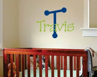 Kids Name Wall Decal - Letter Name Art - Personalized Wall Sticker