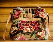 Handmade Convertible Tote Handbag - Vibrant Fall Colors - Luxurious Home Decorator Fabric - FAAP,  HAFAIR, TeamHaHa
