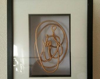 Islamic Art. Allah Calligraphy Sculpture. 3D Printed Arabic Calligraphy Knot Sculpture.