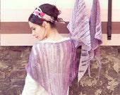 womens hand knit shawl - bohemian shawl - crochet for sale  - romantic shawl - pink marsala shawl