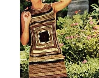 Granny Square Dress Pattern So Retro So Cool