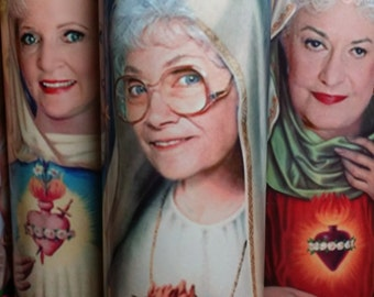 "Golden Girls Sophia Candle - Sophia Petrillo AKA Estelle Getty - 8"" 80's TV Tribute Devotional Candle - with FREE Celebrity Matchbox too! - il_340x270.611971372_381l"