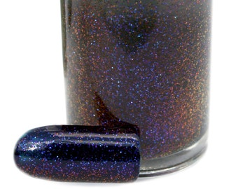 Rainbow Crush - Multichrome Glitter Topcoat - The Chromatic Love Collection Nail Polish - Shifts Blue to Red - Chromaflair Glitter