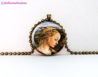 Madonna and Child, Fra Filippo Lippi, 1 in. 25.4 mm necklace or keychain