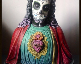 muertify: muertos large holy jezus buste, custom and expertly handpainted