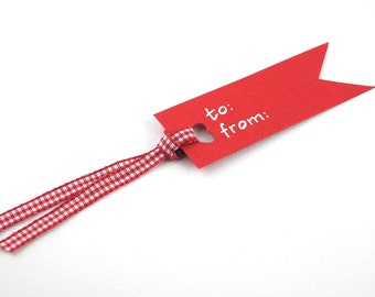Red Gift Tag Handmade - Kraft Decorative Gift Tags