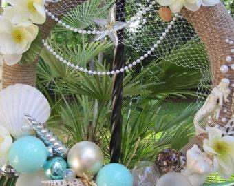 Shell wreath, Mermaid wreath, Coastal wreath