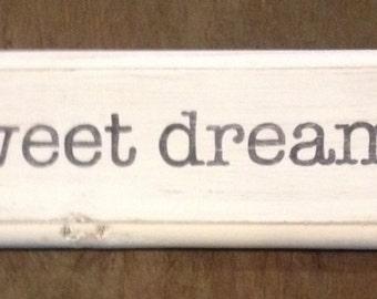 Rustic Sweet Dreams Sign