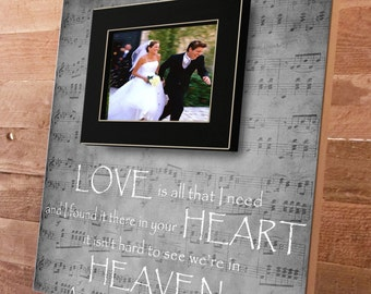 Personalized Wedding Picture Frame, Bride and Groom Gift, Wedding Sign, Wedding Gift, Anniversary Gift, Vows, Wedding, Custom 16 x 16, Love