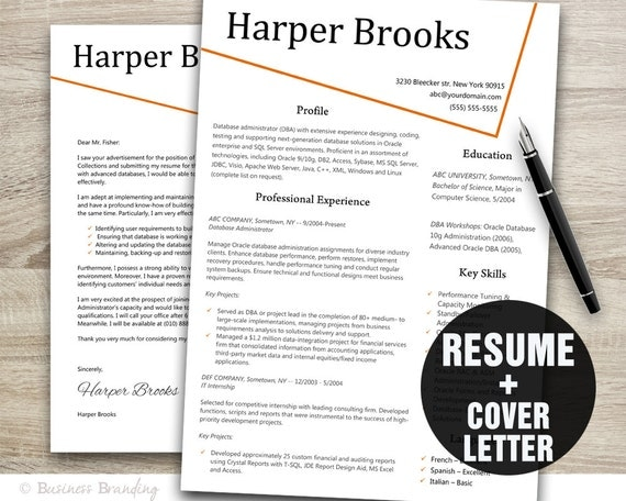 CV Template Creative Resume Template Instant Download