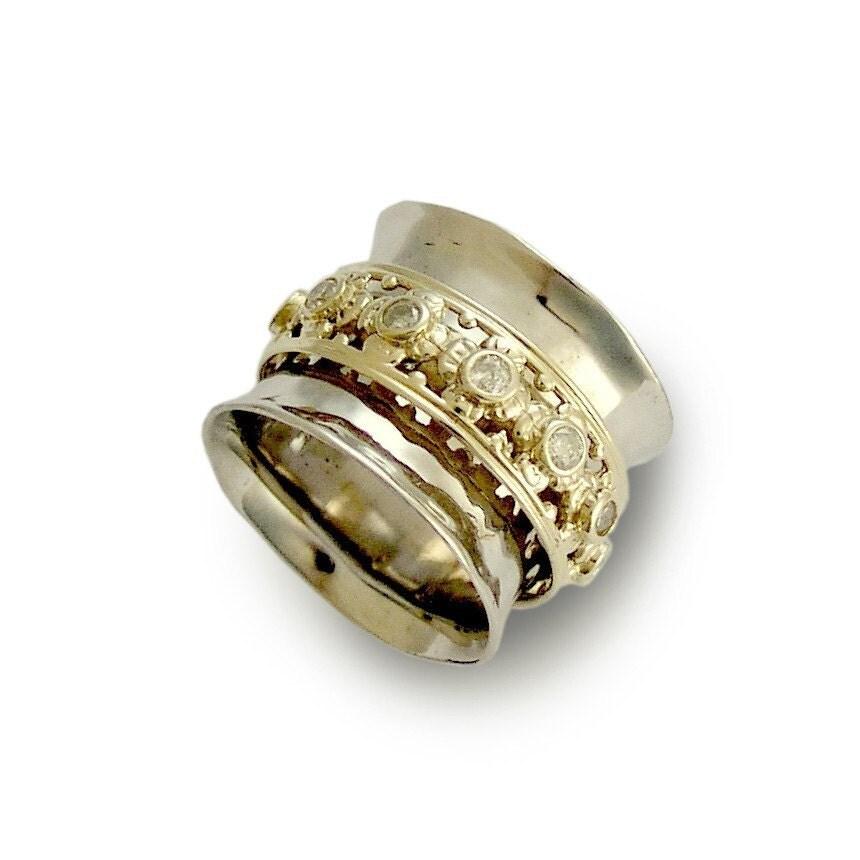 White Spinner Ring