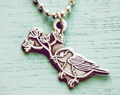 Chickadee Necklace - Christmas Gift for Gardener Mom Stocking Stuffer - Mom Charm Necklace - Mom Christmas Gift - Chickadee Jewelry