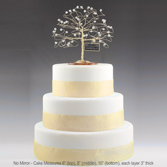 Personalised Anniversary Cake Images : Personalized 50th Anniversary Cake Topper Tree Gift Idea Clear